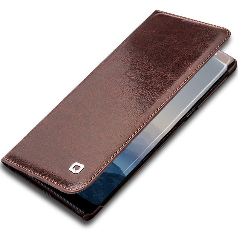 QIALINO Business-stil Echtes Leder-kasten für Samsung Galaxy Note 8 Luxus Kartenschlitzabdeckung Tasche für Samsung Note 8 6,3-zoll