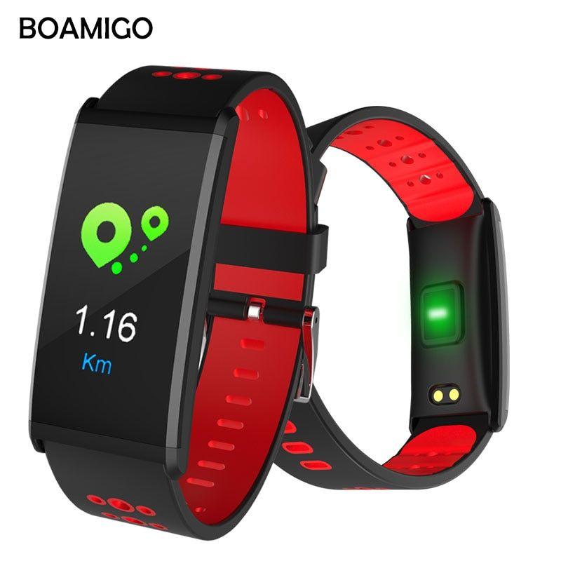 Smart Watch BOAMIGO Brand Smart Wristband Color Screen Call Message Reminder <font><b>Pedometer</b></font> Calorie Bluetooth Alarm For IOS Android