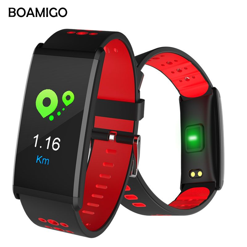 Smart Watch BOAMIGO Brand Smart Wristband Color <font><b>Screen</b></font> Call Message Reminder Pedometer Calorie Bluetooth Alarm For IOS Android