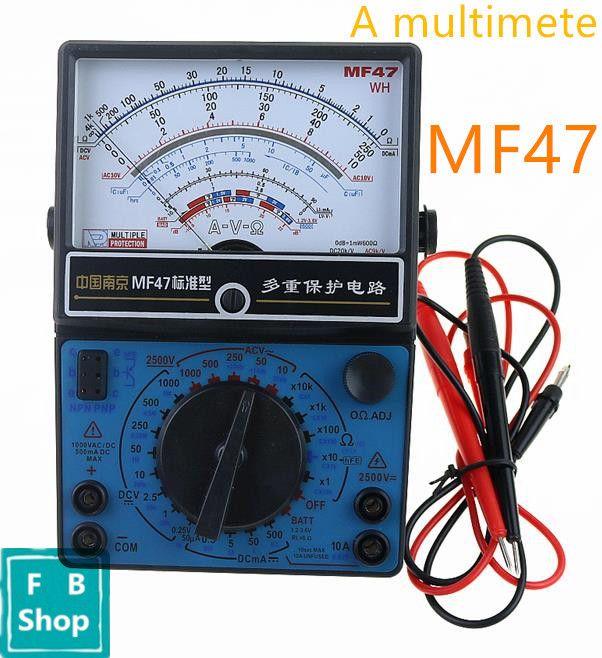 MF47 AC DC Voltmeter Ammeter Ohmmeter Analog Multimeter