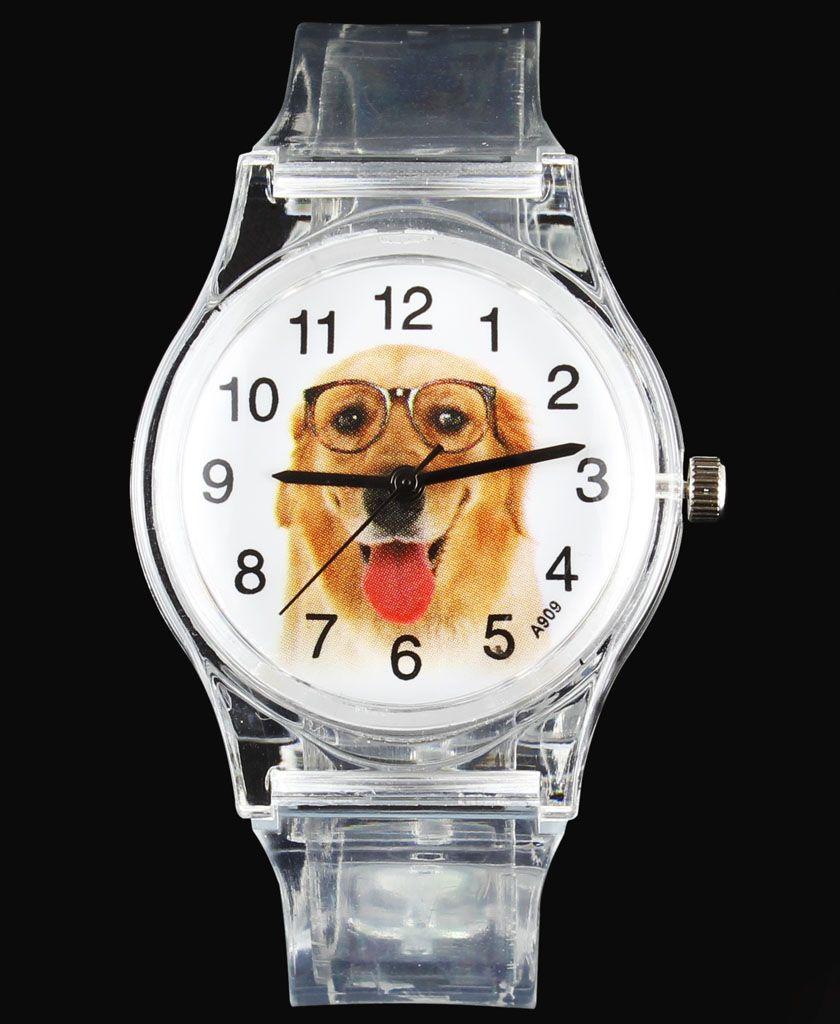 Carlin/Beagle/Saint Bernard/Papillon/Golden Retriever Terrier Bull chien/chat animal de compagnie dessin animé enfants montres montre à Quartz