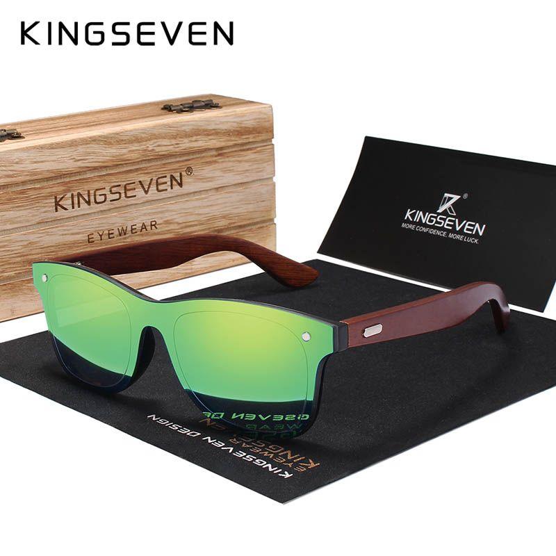 KINGSEVEN marque palissandre Design luxe lunettes de soleil femmes Original bois fait main lunettes de soleil homme mode Vintage Style