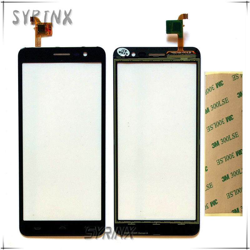 Syrinx + Tape For HOMTOM S12 Sensor Touch Screen Moible Phone Touch Panel For HOMTOM S12 Front Glass Lens Touchscreen Touchpad