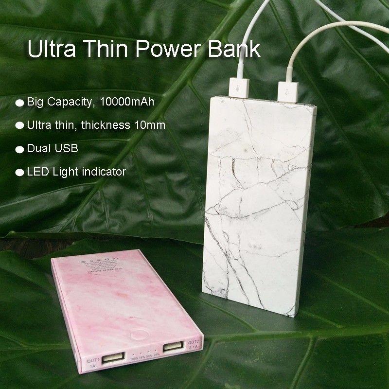 Tragbare Ladegerät Marmor Muster 10000 mAh Energienbank mit LED Externe Back Up Batterie für iPhone X 8 S8 für Xiaomi energienbank