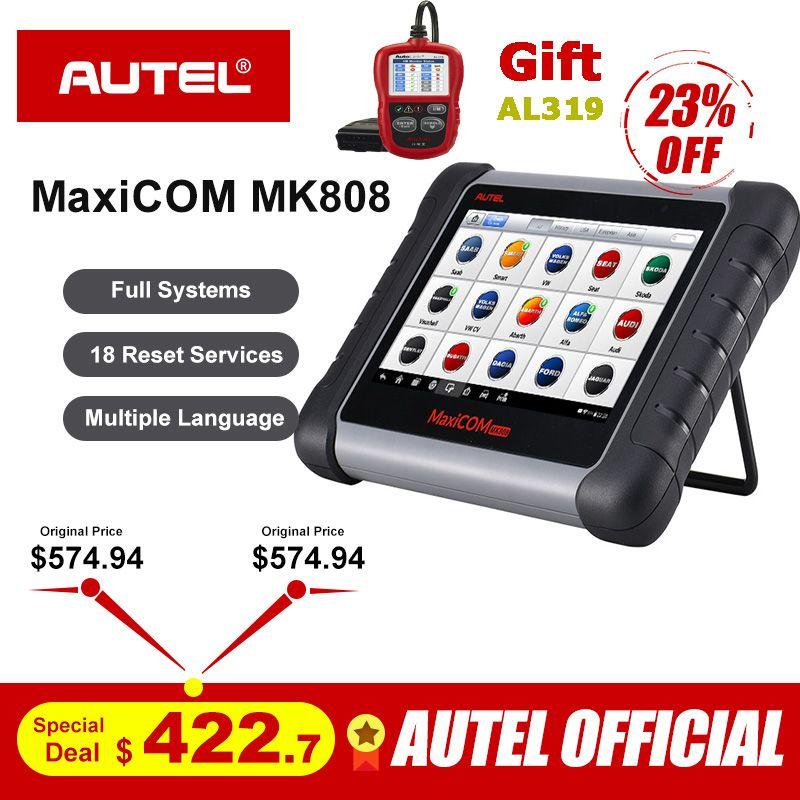 Autel MaxiCOM MK808 OBD2 Scanner Professional Diagnosescan-werkzeug OBD 2 Code Reader ODB2 Schlüssel Codierung Wegfahrsperre MX808 MD802