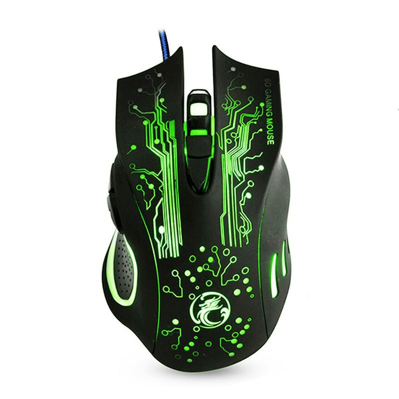imice Wired Gaming Mouse USB Optical Computer mouse 5000DPI Cable Mouse Gamer mice 6 Buttons Ratones PC For cs go X9
