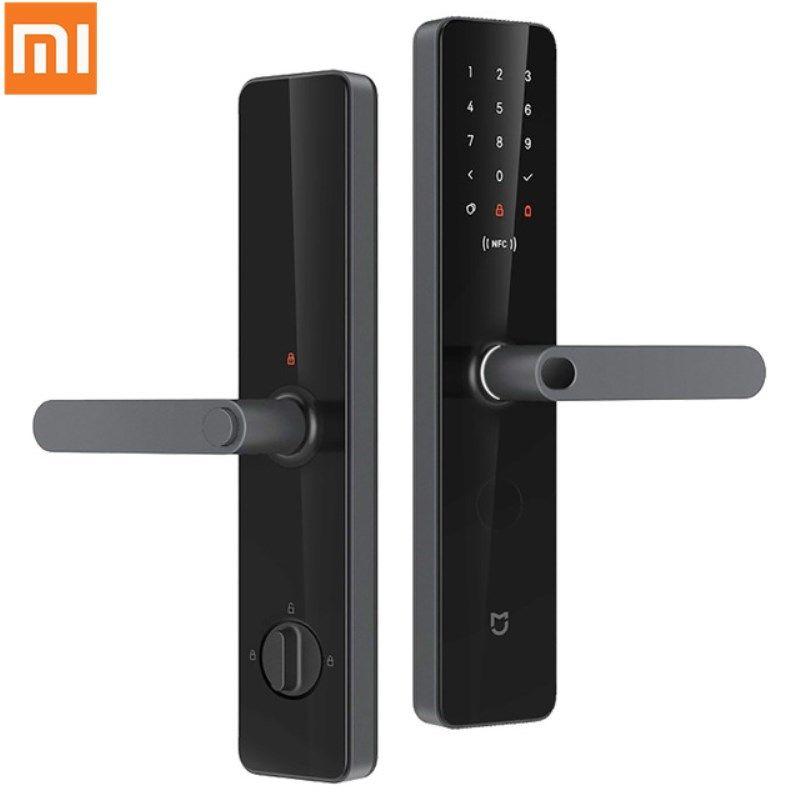 Xiao mi mi jia Smart Türschloss Smart-Fingerprint lock Passwort NFC Bluetooth Entsperren Erkennen Alarm Arbeit mi Hause App steuer Neuesten