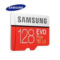 SAMSUNG Micro SD Memory Card EVO+ 128GB 100MB/s SDXC C10 U3 UHS-I MicroSD TF Card EVO Plus 128G Class 10 Grade 3 100% Original