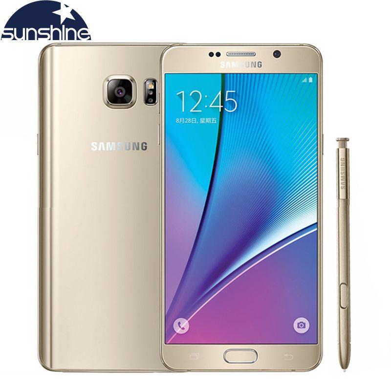 D'origine Samsung galaxy Note 5 N9200 4G LTE Mobile téléphone 16MP 5.7 ''pouces Octa-core 4 GB RAM 32 GB ROM NFC Caméra téléphone portable