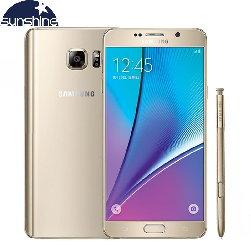 Original Samsung galaxy Note 5 N9200 4G LTE handy 16MP 5,7 ''zoll octa-core 4 GB RAM 32 GB ROM Kamera NFC handy