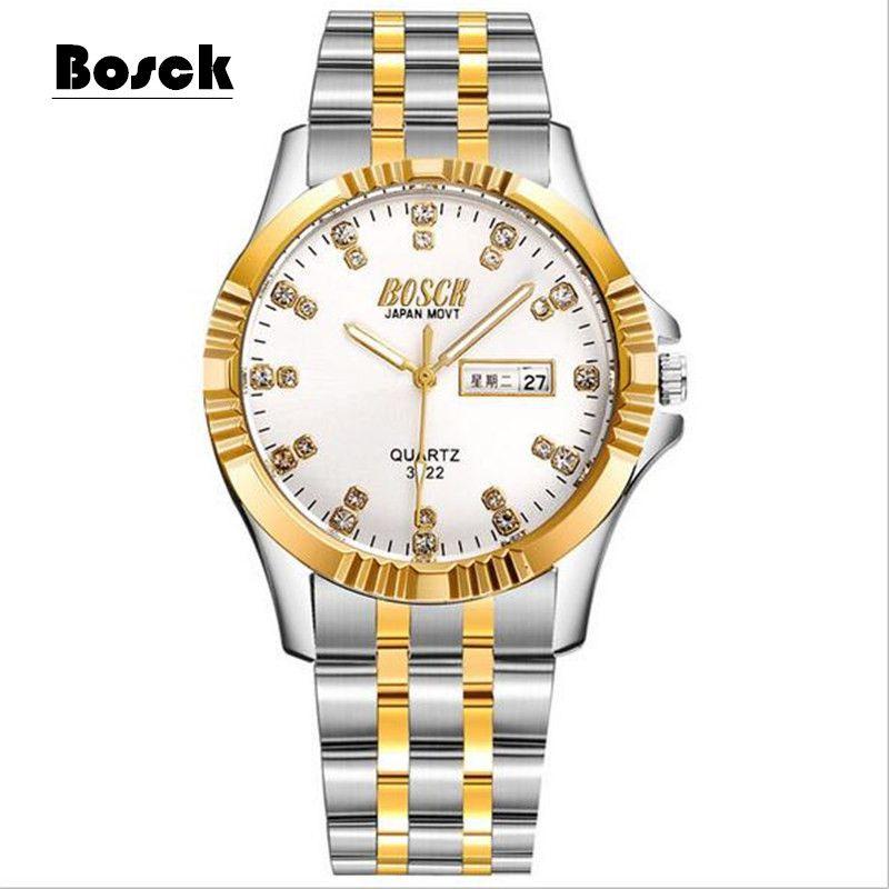 Men's casual sports waterproof luminous quartz ultra-thin steel strip quartz watch
