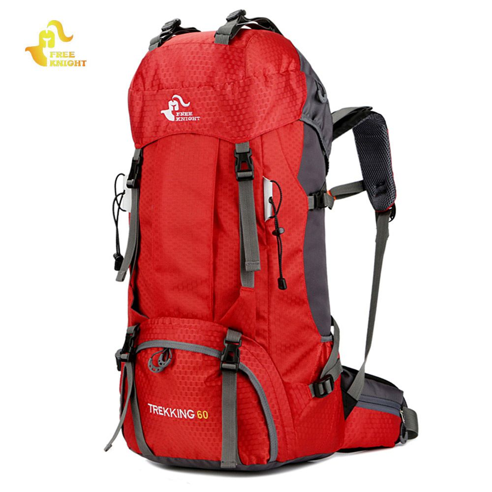 Free Knight 60L Waterproof Climbing Hiking Backpack Rain Cover Bag 50L <font><b>Camping</b></font> Mountaineering Backpack Sport Outdoor Bike Bag