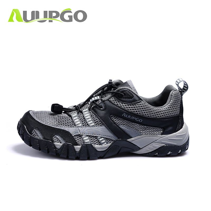 2016 Outdoor Breathable Hiking Shoes Men Women Lightweight Trekking Shoes Men Walking Climbing Shoes Anti-skid Women Aqua Water