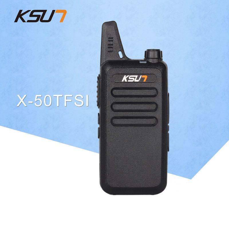 Livraison gratuite talkie-walkie KSUN X-50TFSI jambon Radio bidirectionnelle talkie-walkie double bande émetteur-récepteur BUXUN X-50 (noir)