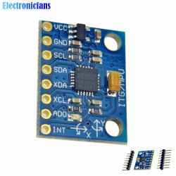 1Set IIC I2C GY-521 MPU-6050 MPU6050 3 Axis Analog Gyroscope Sensors + 3 Axis Accelerometer Module For Arduino With Pins 3-5V DC