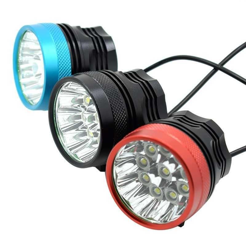 Bike light 18000Lumen 9 XM-L T6 LED Head Front Bicycle Light Cycling Light Head lamp Torch+18650 Battery Pack +Headband