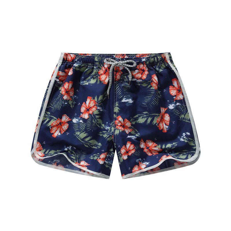 Beach Shorts Men Bottoms Quick Dry Shorts Printing Swimming Surfing Shorts Summer Draw String Elastic Waist Shorts Men
