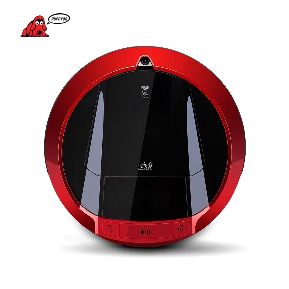 PUPPYOO Multifuncional Robotic Vacuum Cleaner Auto-Carga de Barrido Casa Colector de Succión LLEVÓ la Pantalla Táctil Cepillos Laterales V-M900R