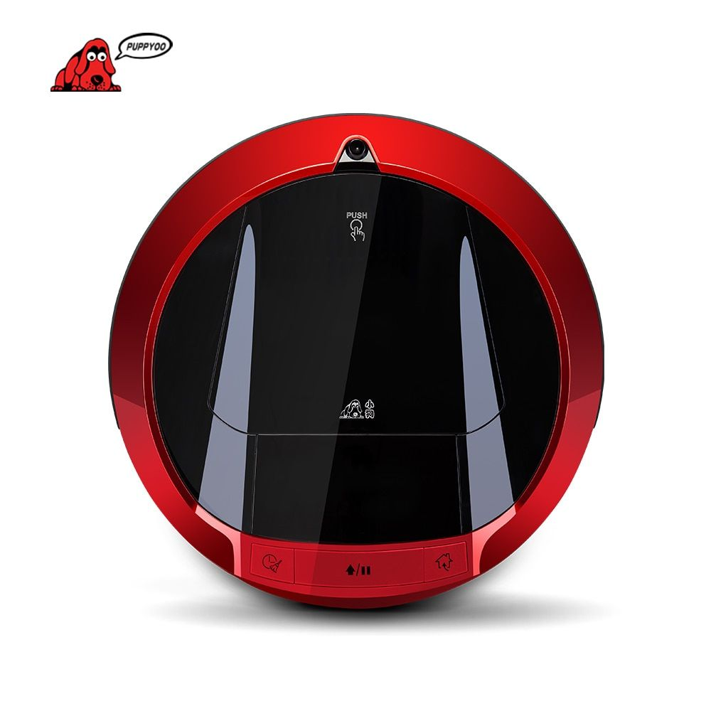 PUPPYOO Multifunktionale Roboterstaubsauger Selbstlade Sweep Hause Collector Saug LED Touch Screen Side Pinsel V-M900R
