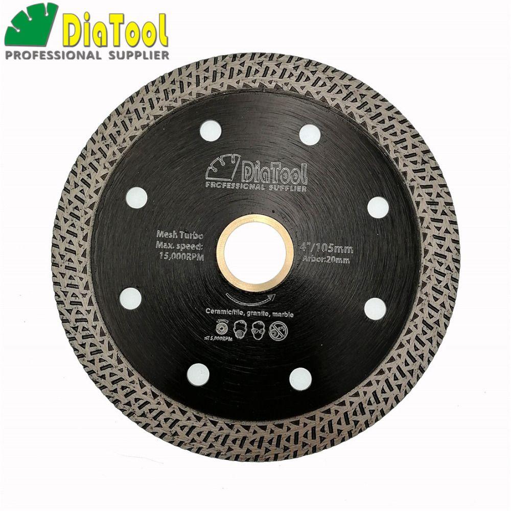 Dia4 ou 4.5 ou 5 pressé à Chaud fritté Maille Turbo Diamant lame de Scie scie circulaire Diamant Alésage De la Roue 22.23 MM ou 20mm