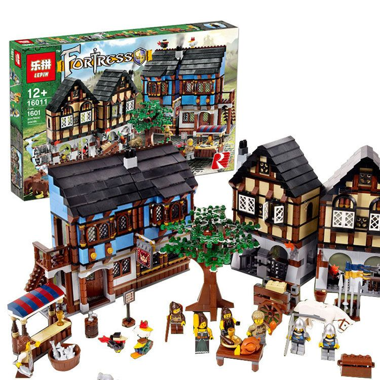 Lepin 16011 Castle Series The Medieval Manor Castle Set Lord of the Rings Buildings Blocks Bricks 10193 Kids Toys christmas Gift