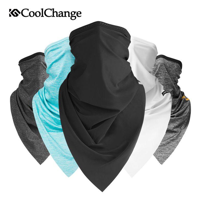 CoolChange Summer Sport Scarf Ice Neck Scarf Sun Protective Mask Cycling Headwear Half Face Mask Mtb Bike Triangle Scarf