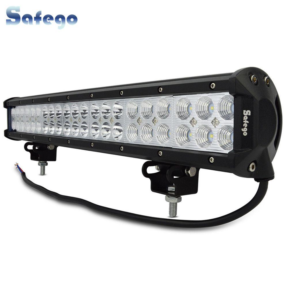 Safego 20 Zoll 126W Led Licht Bar Offroad 4X4 Led Arbeits-licht für Off Road Fahrzeug Lkw traktor ATV 12 V/24 V 7800LM Weiß 6000K