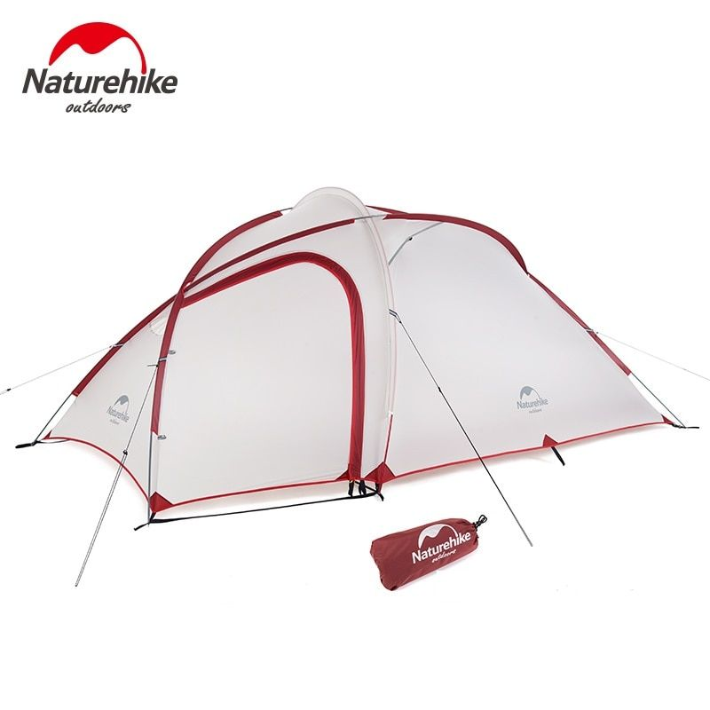Naturehike Hiby Family Tent 20D Silicone Fabric Waterproof Double-Layer 3 Person 4 Season camping tent one room one hall