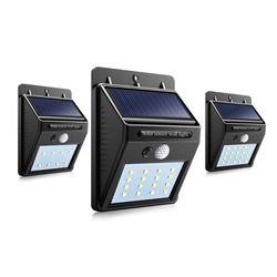 8/16/20leds Solar Panel Powered LED PIR Motion Sensor Lamp Night Light Waterproof Outdoor Garden Wall Street Security Lights