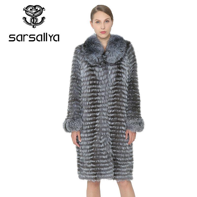 SARSALLYA Echt Pelzmantel Frauen Reale Natürliche Fuchs Pelz Winter Warm Lange Mäntel Frauen Weste Fuchs Pelz Weibliche Kleidung Nerz mantel