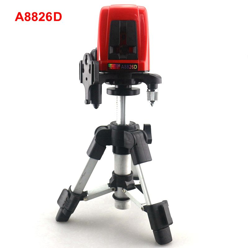 ACUANGLE A8826D 1V1H Laser Level Cross Laser Level Red Lines with AT280 <font><b>Tripod</b></font> Self-leveling Laser Construction Diagnostic-tool