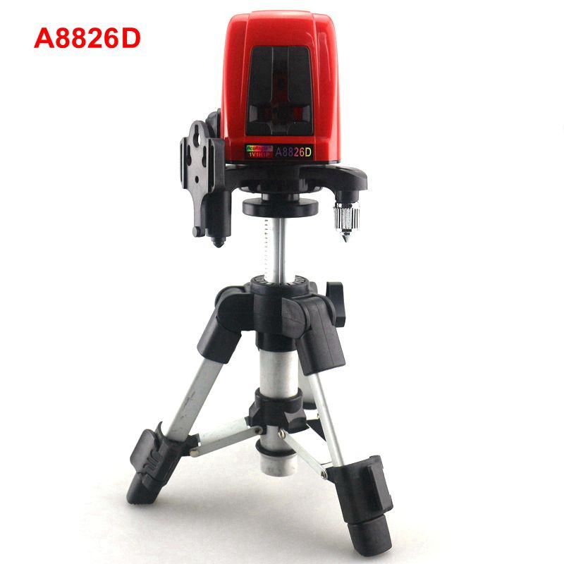 ACUANGLE A8826D 1V1H Niveau Laser Croix Niveau Laser Rouge Lignes avec AT280 Trépied Auto-nivellement Laser Construction De Diagnostic-outil