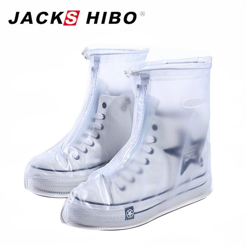 Couvre-chaussures imperméables réutilisables JACKSHIBO couvre-chaussures protecteur de chaussures hommes et femmes et enfants housse de pluie pour accessoires de chaussures