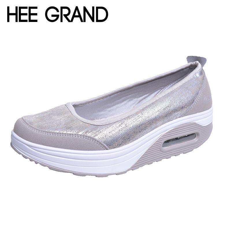 HEE GRAND femme appartements plate-forme PU coton Patchwork secouant fond épais couleur vive chaussures femme printemps grande taille 35-41 XWR080