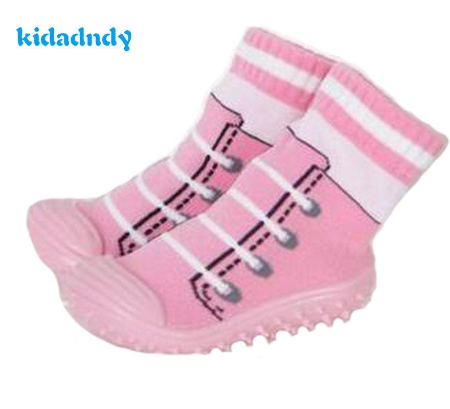 Kidadndy Детские носки мягкая подошва нескользящие носки-тапочки на резиновой подошве дети Сапоги и ботинки для девочек малышей для девочек и м...