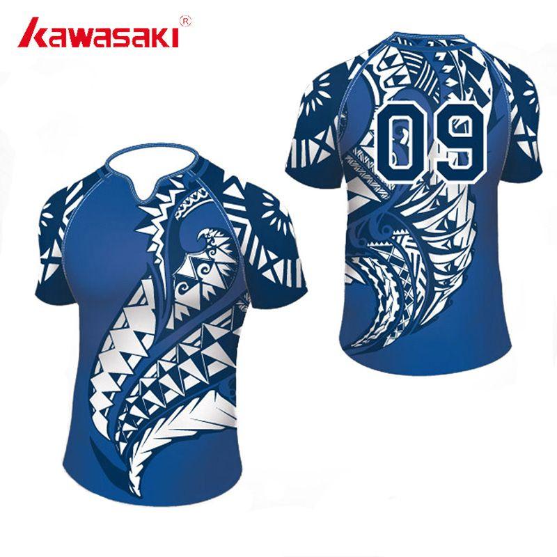 2018 Kawasaki Personnalisé Rugby top en jersey Pour Hommes et Femmes Sublimation 100% Polyester Séchage Rapide Jeunesse Match D'entraînement usage d'équipe Short