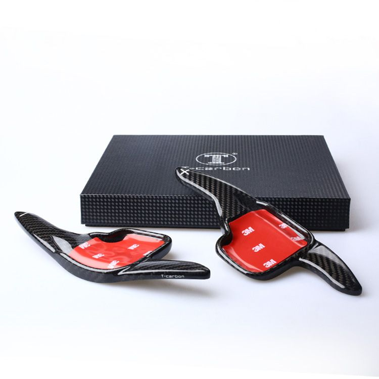 T-DS Style Carbon fiber Steering wheel shift paddle Fit For BMW
