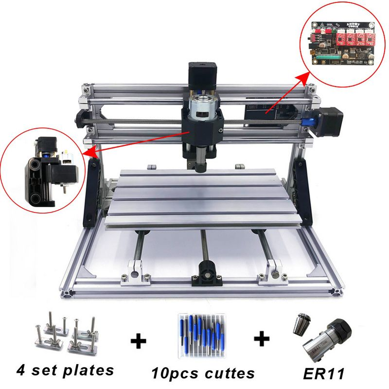 Mini CNC Gravur Maschine mit ER11 Holz Router Mühle PCB Fräsen Maschine PVC Holz Carving Maschine DIY CNC Windows