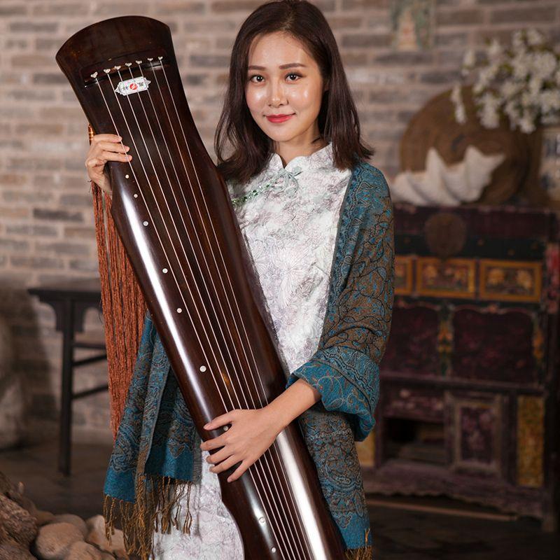 Chinesische Guqin Fuxi-typ Alten Fir Massivholz Guqin Anfänger High-end Leistungsniveau 7 Saiten Alte Zither mit Zubehör