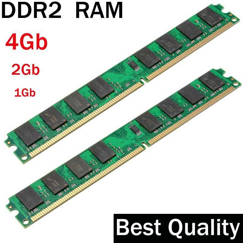DDR2 4 Gb 2 Gb 1 Gb DDR2 RAM 800 667 533 Mhz/costume pour tous les Intel et AMD de bureau/memoria 2 gb ddr2 ram unique/ddr 2 mémoire