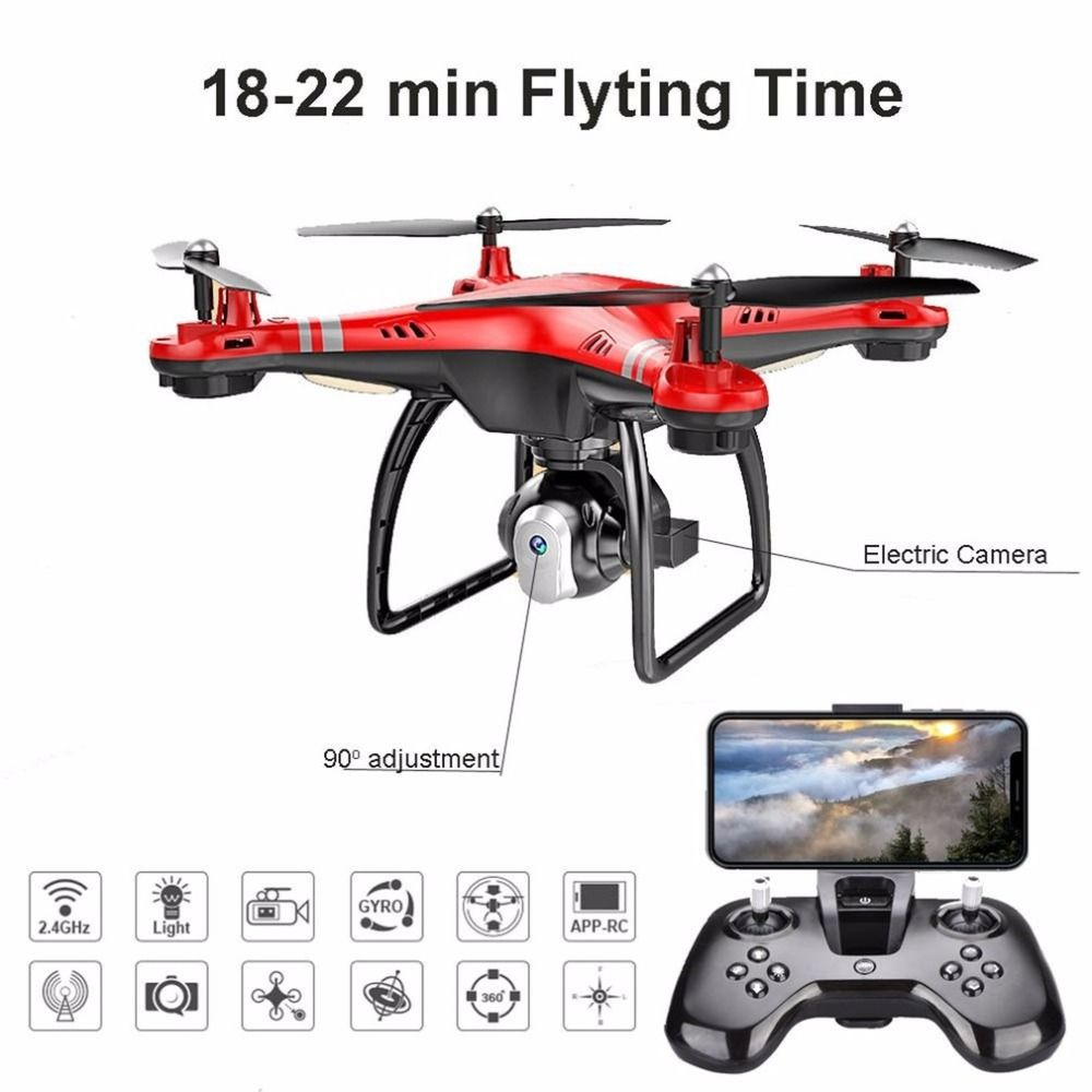 X8 RC Drone Camera Drone with HD 3MP 720p/640p Camera Altitude Hold One Key Return/Landing/Take Off Headless 2.4G RC Quadcopter