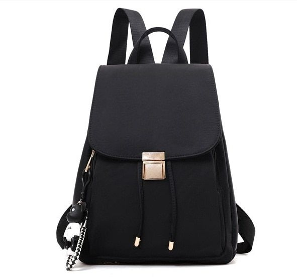 Amasie new arrival black school bag double bag pack for teenages girls and boys EGT0361