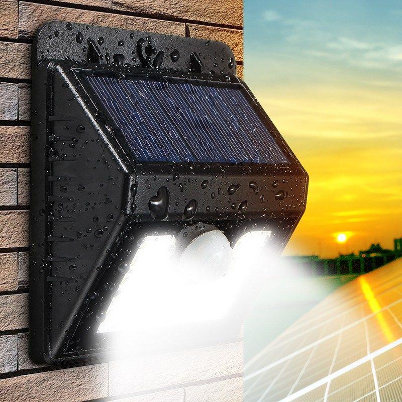 8/20/30/44/45/62 LED Solar Power PIR Motion Sensor Wall Light Outdoor Waterproof Energy Street Path Home Garden Security Lamp
