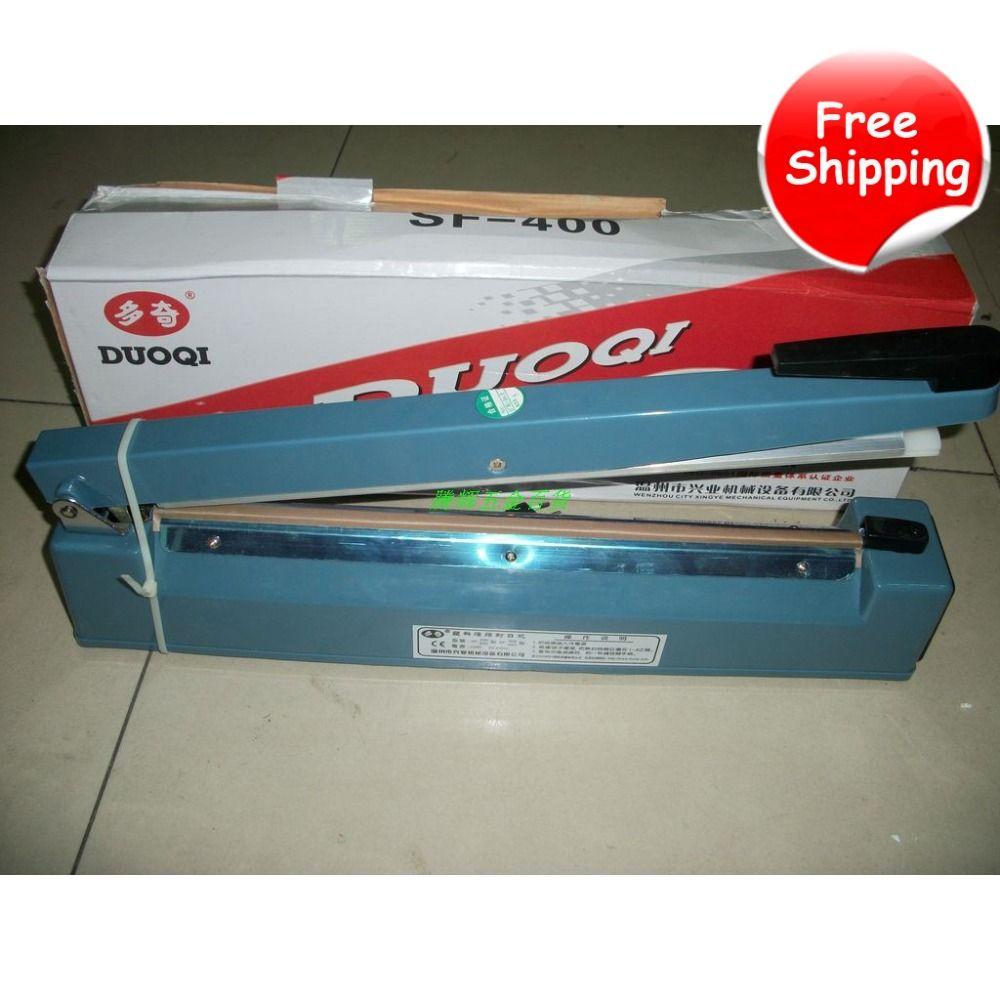 FREE SHIPPING 220V 400mm Hand Manual Impulse Sealer Heat Seal Machine Poly PVC Plastic Shrink Vacuum Bag Film lips Sealing