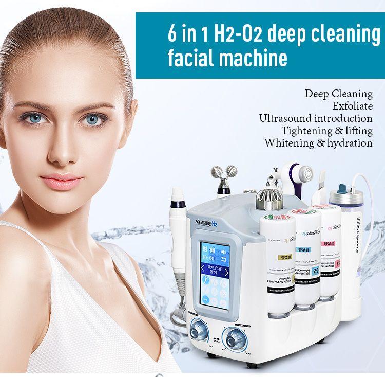 Neueste 6 in 1 Hydro Gesichts Maschine Hydra Dermabrasion Gesicht Tief Reiniger Hautpflege Multifunktionale Gesichts Spa Ausrüstung X-LASH