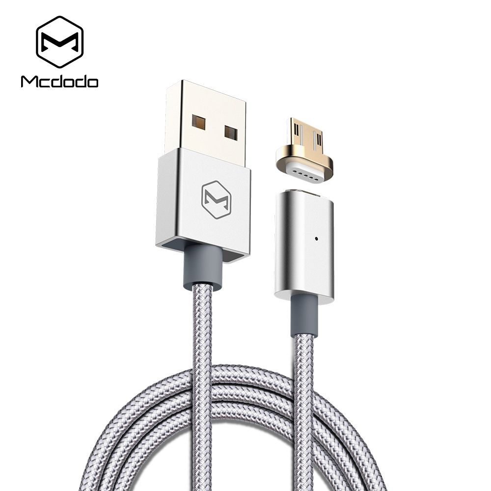 Mcdodo Magnetic Micro USB Cable woven fabric indicator light Cable 1.2m(3.94ft) Fast Charging for Android Xiaomi Meizu Samsung