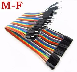 40pcs in Row Dupont Cable 20cm 2.54mm 1pin 1p-1p Female to Male jumper wire for