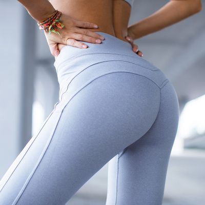 Loldeal High-Waist Sports Legging Women's Compression Thigts M Line Butt Lift Workout Leggings Hip Push Up Stretch Yoga Pants
