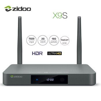 Zidoo x9s ТВ коробка 4 К * 60fps HD HDMI 2.0 Android 6.0 Четырехъядерный  HDMI 2.0 BT4.0 Телевизионные боксы  Двухдиапазонный WIFI 2G+16G Медиаплеер IPTV