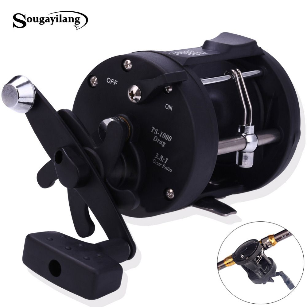 Sougayilang Reel Fishing TSSD 3000L-4000L Black Right Hand <font><b>Casting</b></font> Sea Fishing Reel Saltwater Baitcasting Coil